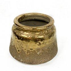 Doniczka ceramiczna złota...