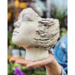 Donica kamienna głowa 20x20x17
