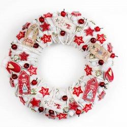 Wianek świąteczny, biało...