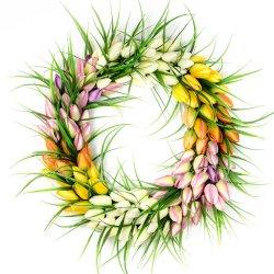 """Wianek kwiatowy """"Hello Spring"""""""