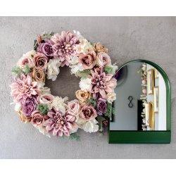 wianek na drzwi herbaciane róże