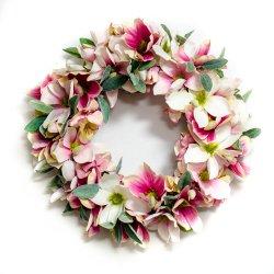 Wianek Różowy świt, magnolie