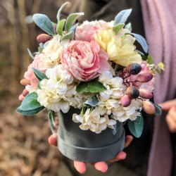 Flowerbox z kwiatów (kwiaty...
