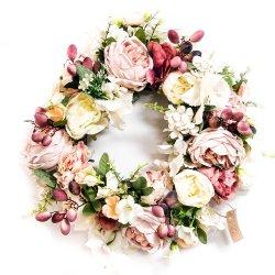 Wianek kwiatowy Pink Love