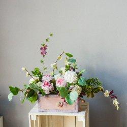 Wiosenna kwiatowa kompozycja