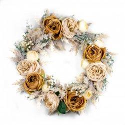 Wianek kwiatowy w stylu BOHO